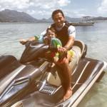 Yiannis & Nicos on jet-ski