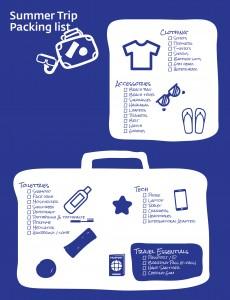 Summer Packing list