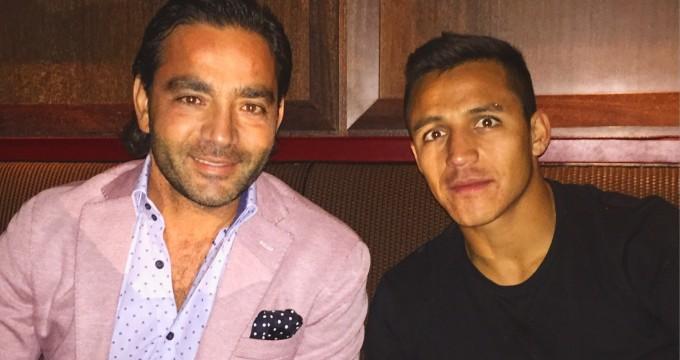 Yiannis Misirlis with Alexis Sanchez at Cut on 45 Hyde Park Lane.