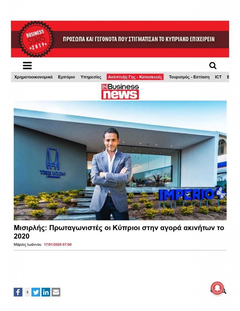 yiannis misirlis, real estate market, cyprus, limassol, inbusiness